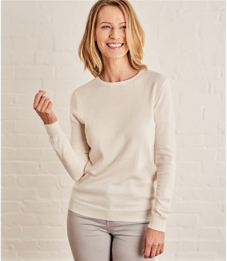 Pull col rond femme cachemire