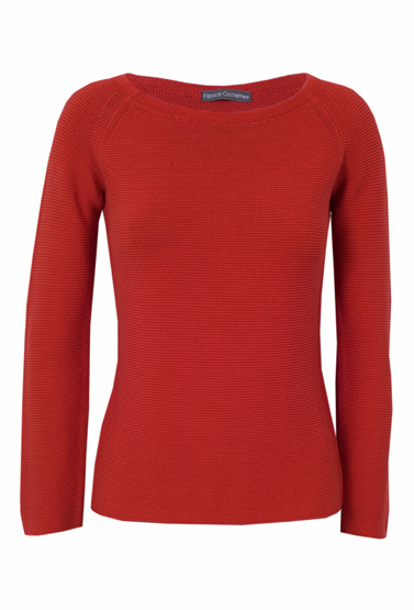 Pull rouge femme cachemire