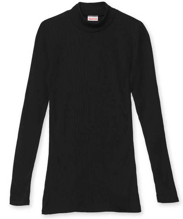 Sous pull col polo femme
