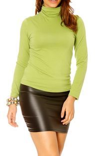Sous pull femme couleur moutarde