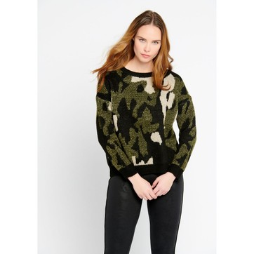 Pull camouflage femme