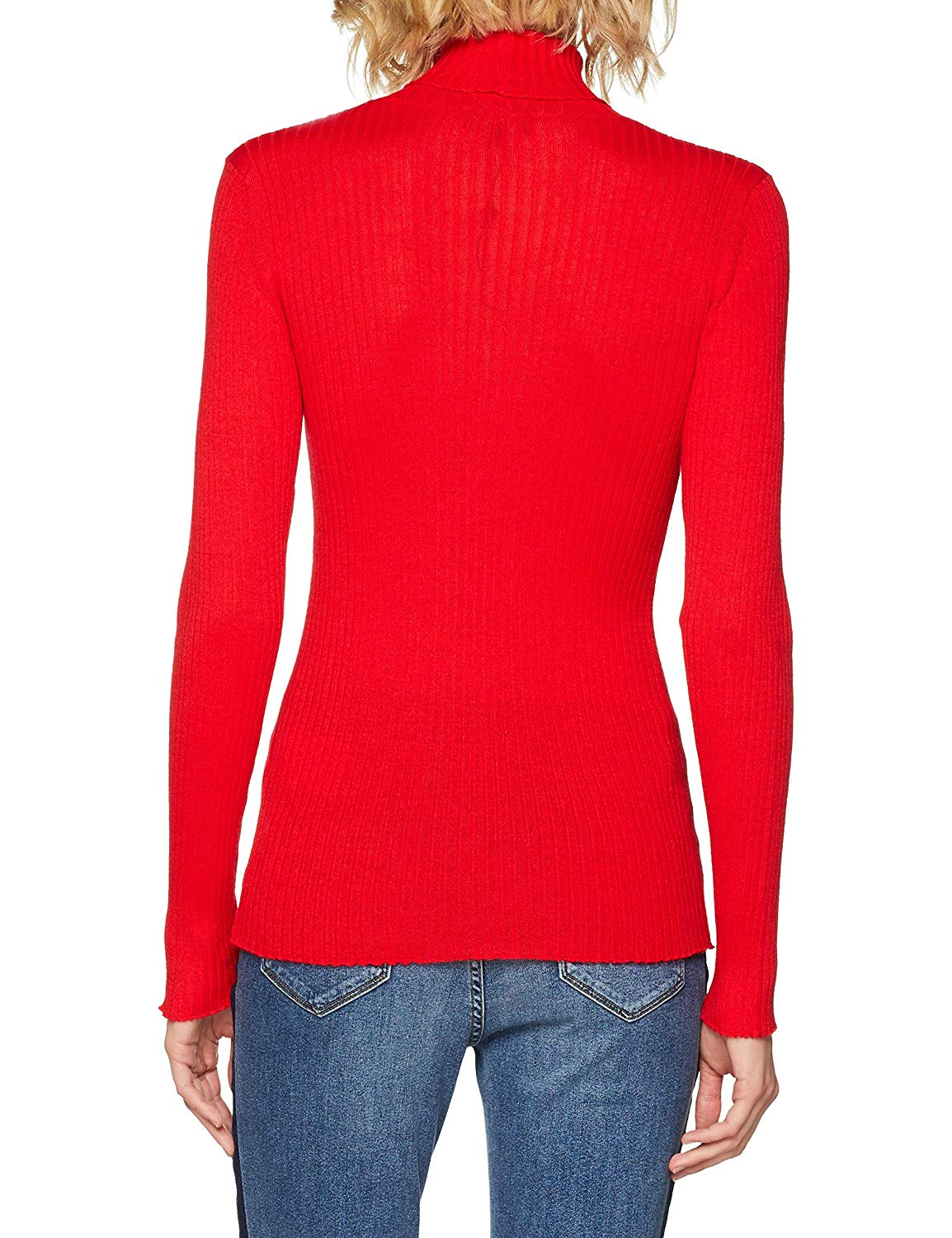 Pull over col roulé femme