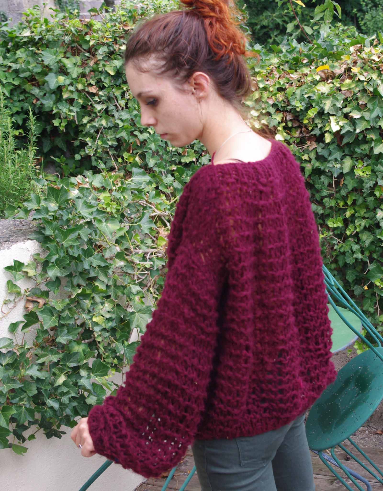 Pull oversize femme tricot