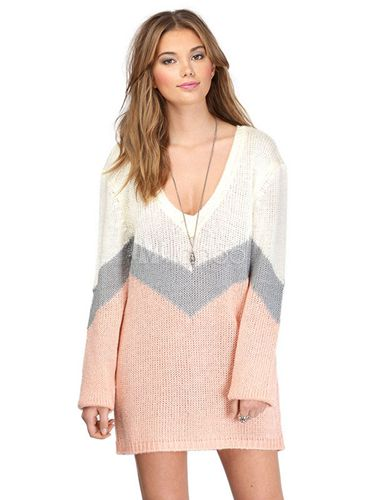 Robe pull femme blanche