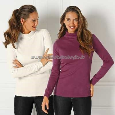 Sous pull viscose femme grande taille