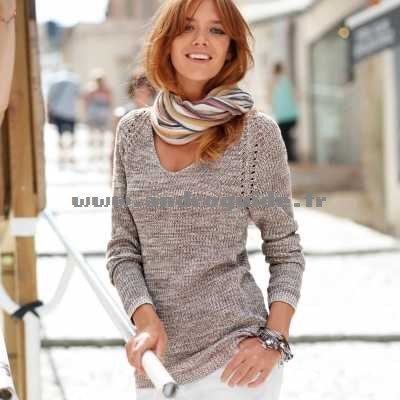 Pull maille anglaise femme