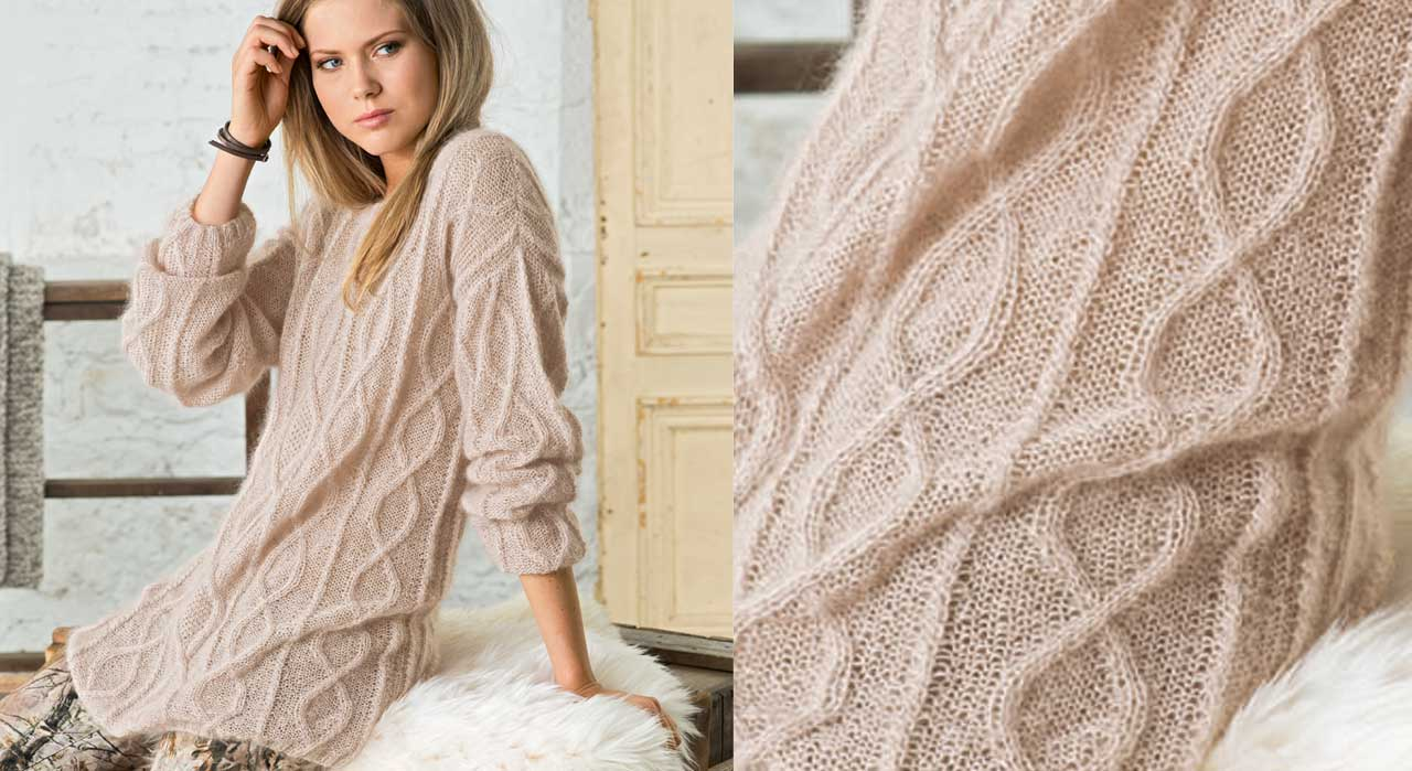 Modele tricot pull tunique femme