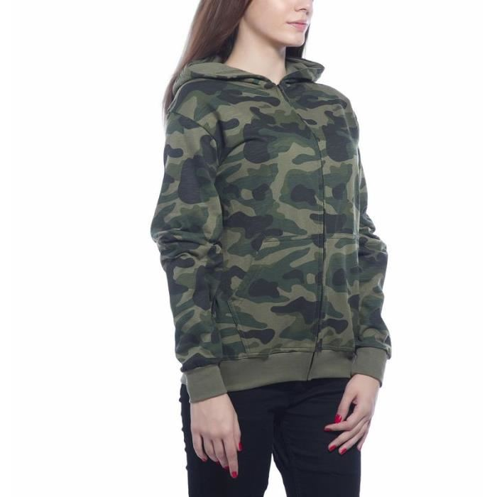 Pull militaire femme
