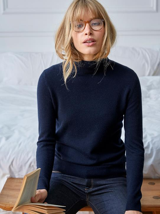 Pull col roule femme cachemire