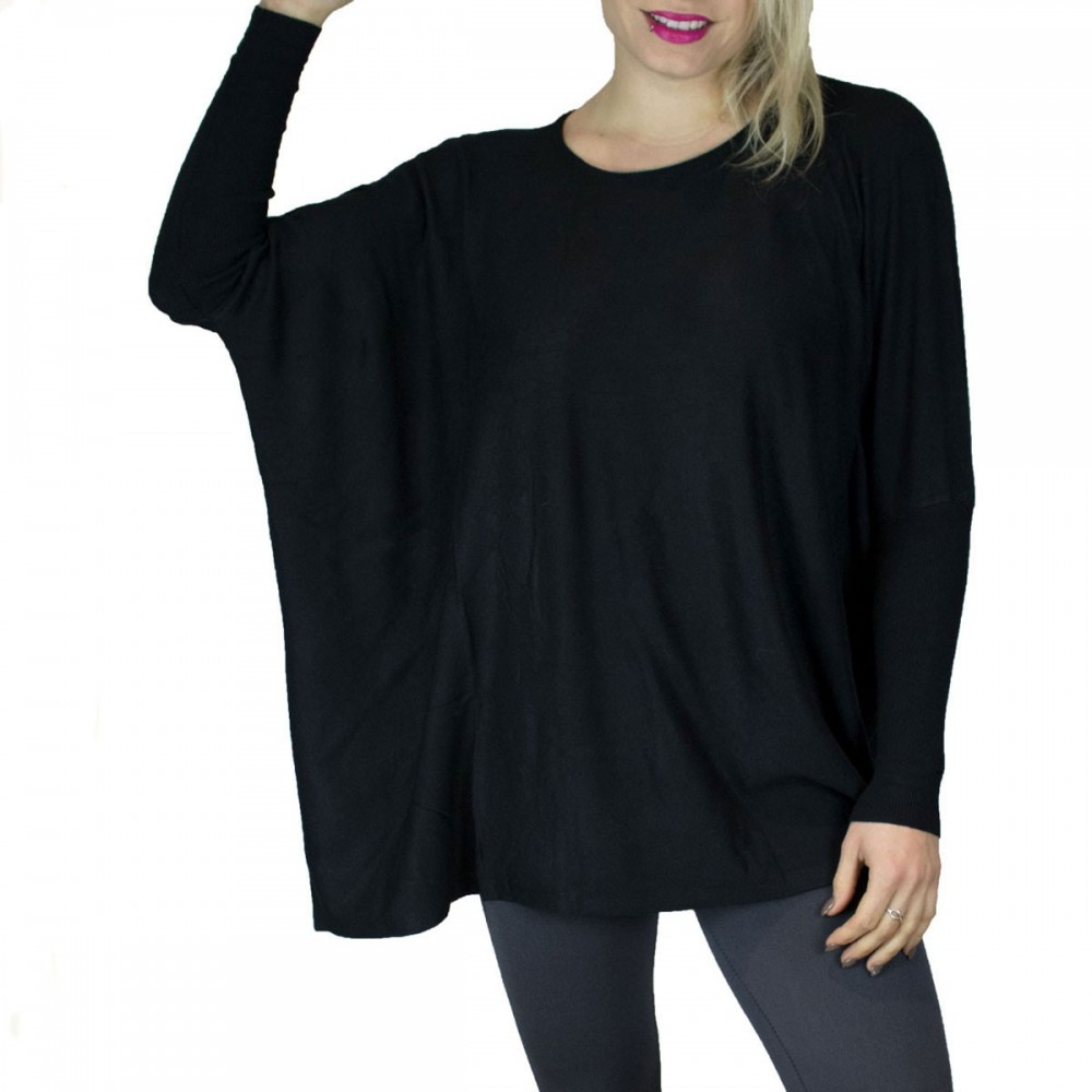 Pull laine ample femme
