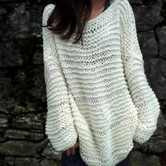 Gros pull laine femme grosse maille