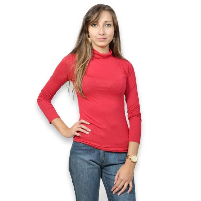 Sous pull femme rouge